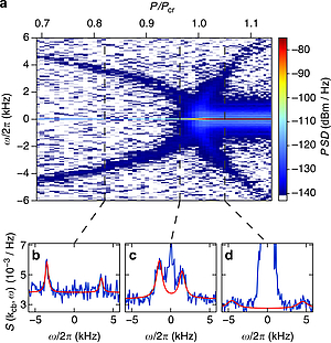 Measuring the dynamic structure factor of a quantum gas undergoing a structural phase transition